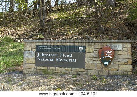 Johnstown Flood National Memorial Sign