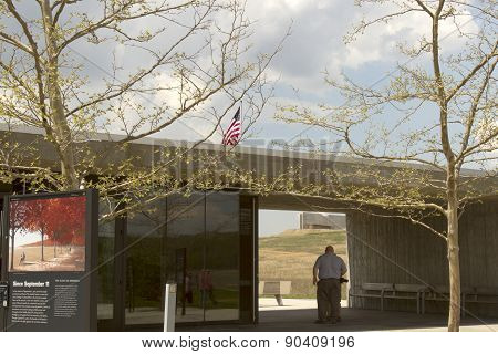 Visitors At Flight 93 National Memorial