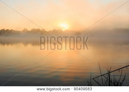 Carp Fishing Misty Lake France
