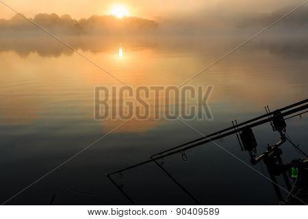 Carp Rods Misty Lake France