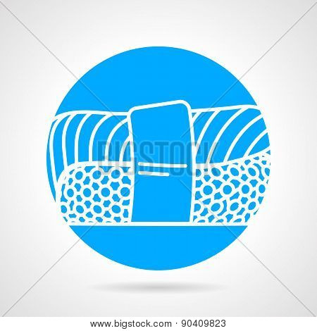 Sushi round vector icon