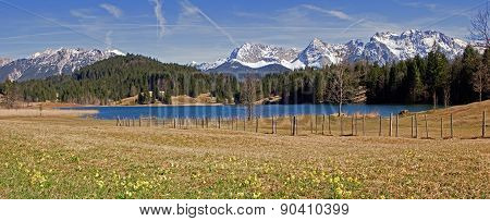 View To Lake Geroldsee And Karwendel Mountains