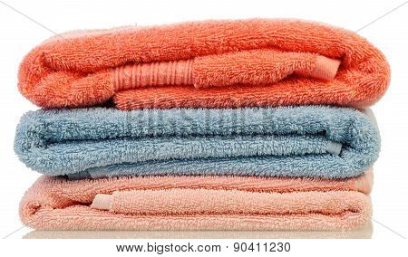 Stack from bath towels