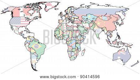 Bosnia And Herzegovina Territory On World Map