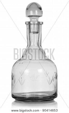 Empty whiskey bottle.