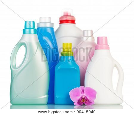 Stack from different cleaning items