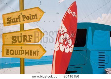 surfer wall mural