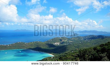 View of Magens Bay Beach in St. Thomas