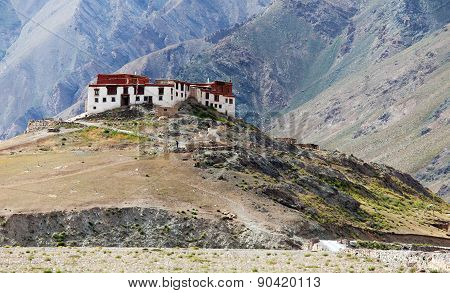 Rangdum Or Ringdom Buddhist Monastery In Suru Valley