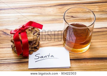 Cookies And Whiskey For Santa