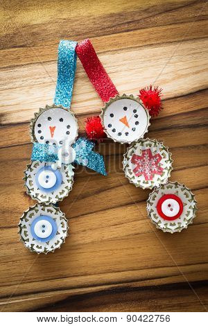 Homemade Recycled Ornaments