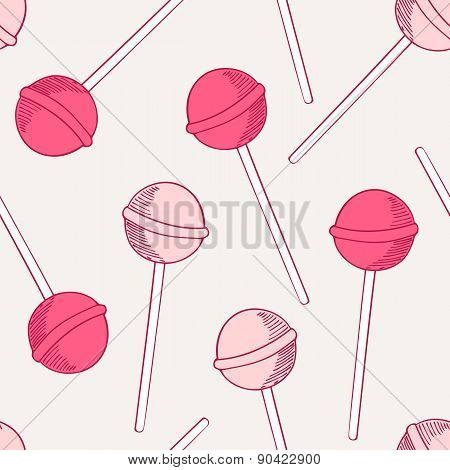 Sketches Candies Seamless Pattern