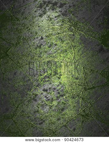 Grunge Silver Metal Texture With Green Scuffed