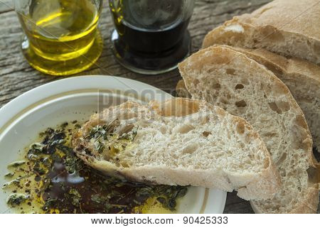Ciabatta With Oil And Balsamic