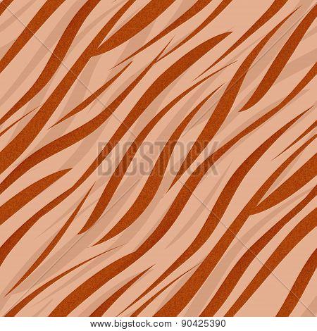 Tiger or zebra wild skin leather seamless pattern ornament background