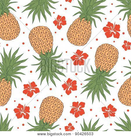Vintage pineapple seamless