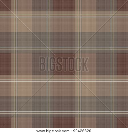 Brown checkered seamless pattern repeat design