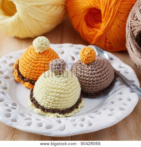 Handmade Colorful Crochet Toys Sweets