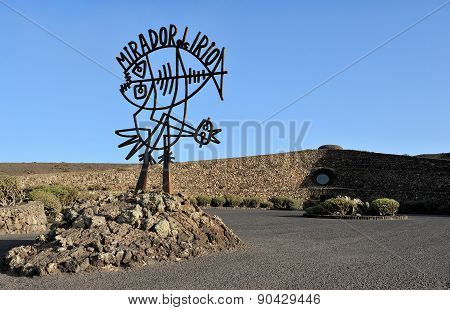 Sculpture By Cesar Manrique Near Mirador Del Rio, Lanzarote Island, Canary Islands, Spain