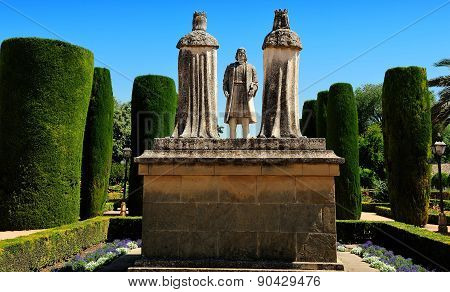 Christopher Columbus And Christian Kings, Gardens Of Alcazar, Cordoba, Spain