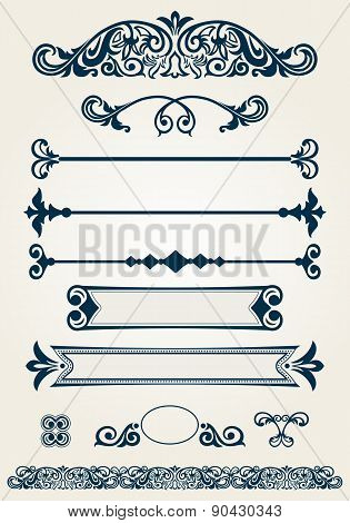 Page dividers and decoratons