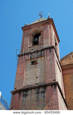 Torrox church tower.