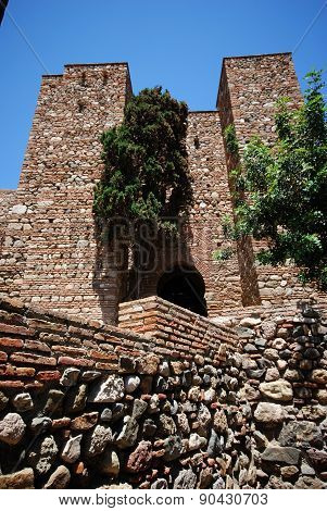Castle entrance, Malaga.