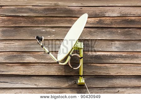 Dish Tv On Wood.