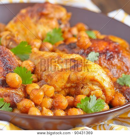 Curry Chicken With Chickpeas
