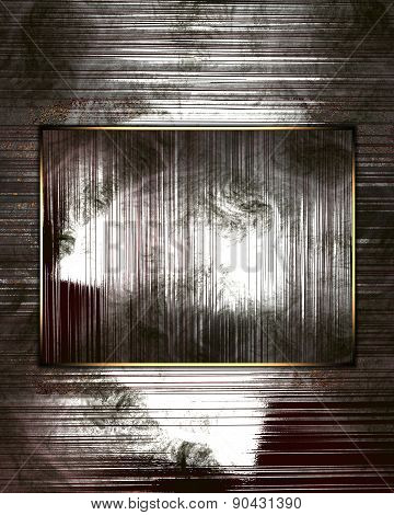 Grunge Metal Background With Abstract Metal Plate