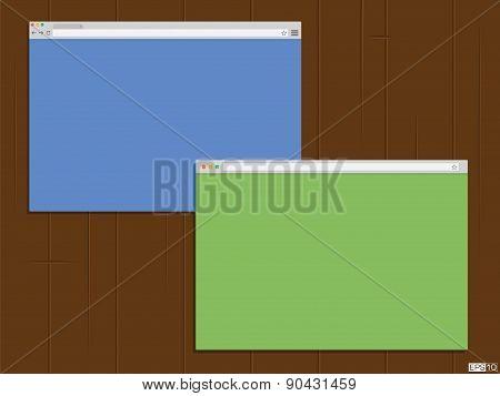 Browser window - Illustration
