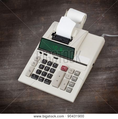 Old Calculator Showing A Percentage - 10 Percent