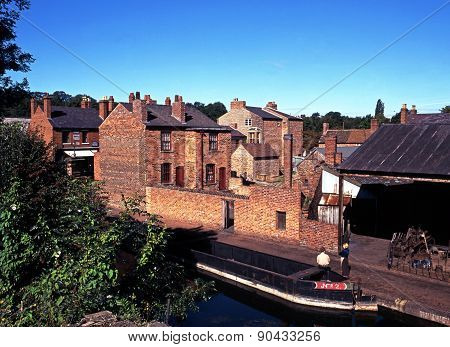 Victorian buildings and boat, Dudley.