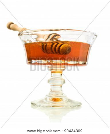 Honey In A Glass Dish