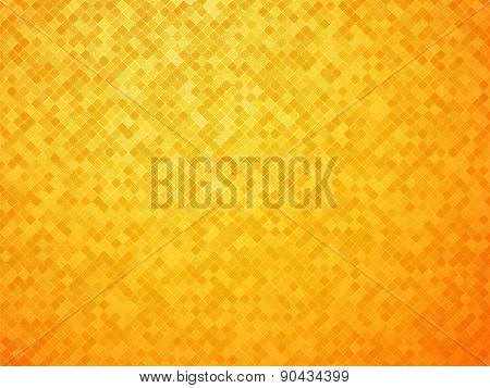 Abstract Lozenge Orange-yellow Background