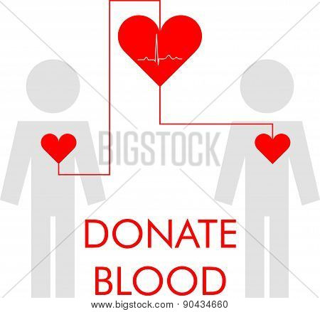 Vector illustration of blood donation