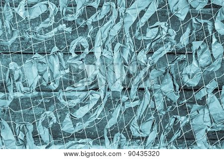 Camouflage Net For Military Of Turquoise Color