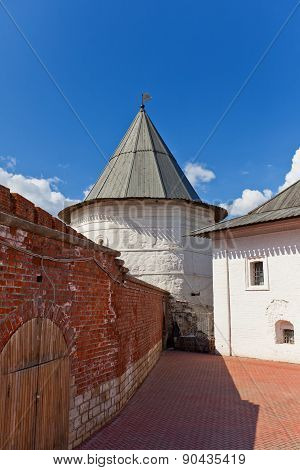 Nameless Tower (xvi C.) Of Kazan Kremlin, Russia. Unesco Site