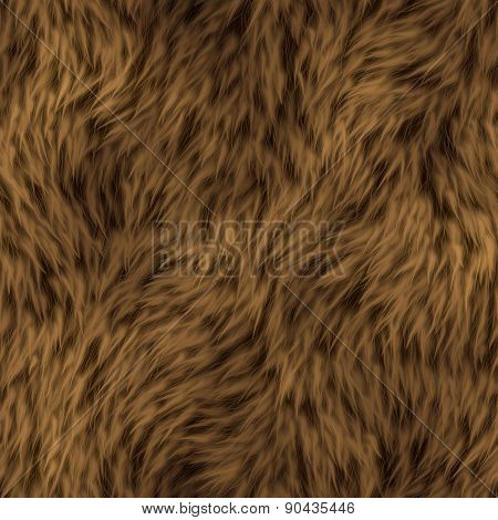 Seamless Animal Fur Background