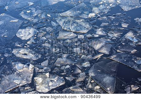 Ice Floes In Water