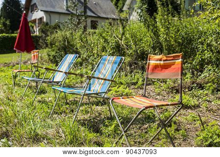 Chairs Of Spectators Of Le Tour De France