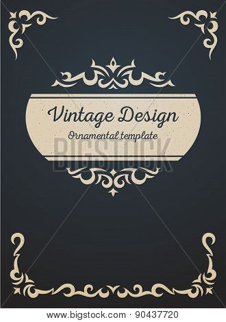 Vintage card design template.