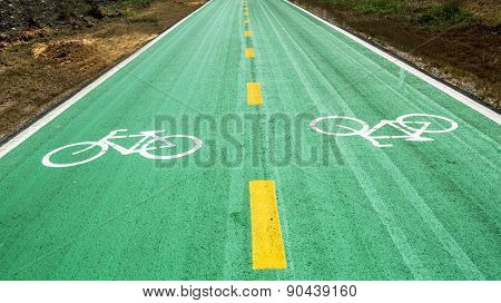 Bike Lane Color Green