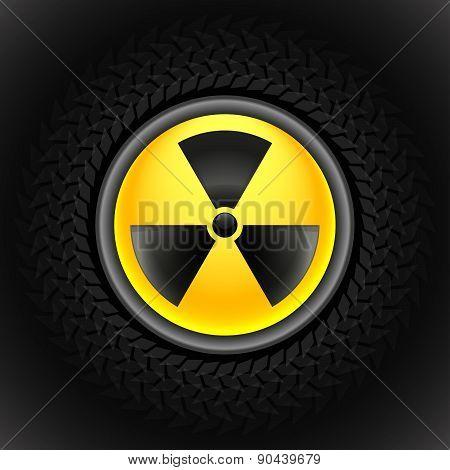 Sign Of Radiation Black
