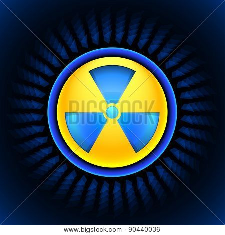 Sign Of Radiation Blue