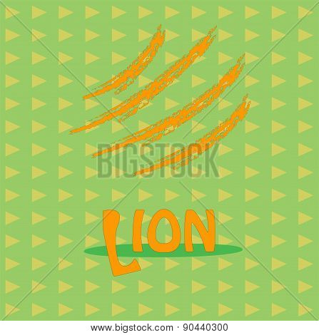 Card with the inscription  lion for your business.