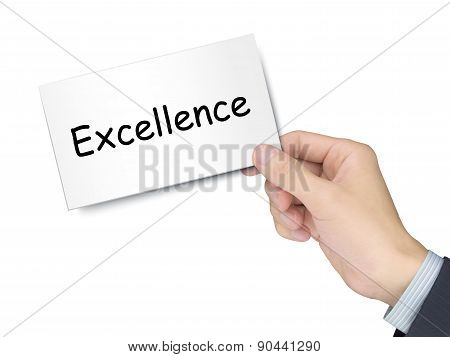 Excellence Card In Hand