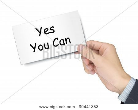 Yes You Can Card In Hand