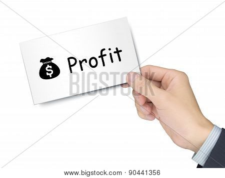 Profit Card In Hand