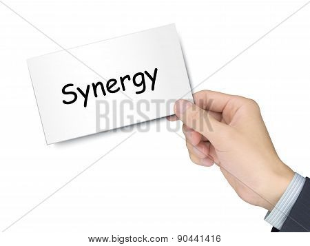 Synergy Card In Hand